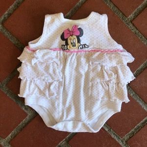 Other - Minnie Mouse Baby Ruffled Bodysuit